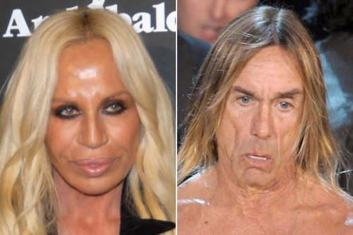 Donatella Versace : iggy pop : worst faces : beauty : celebrities : entertainment