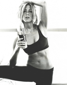 Jennifer aniston, abs, fitness, smartwater ad, celebrities, entertainment, beauty