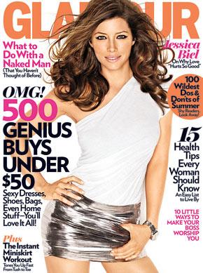 Jessica Biel, Glamour Magazine, celebrities, beauty, cosmetic surgery, Botox