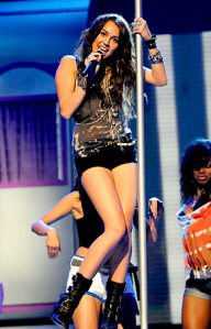 Miley Cyrus singing with a stripper pole, Miley Cyrus upskirt photo, Miley Cyrus and Perez Hilton, celebrity plastic surgery, celebrity cosmetic surgery