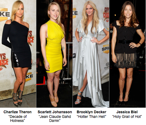 Spike TV 2010 Guys Choice Awards, Charlize Theron, Brooklyn Decker, Scarlett johansson, Jessica Biel