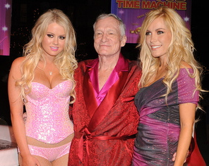 hef loves breast implants, playboy magazine, hef's girlfriend, crystal harris, breast implants, breast augmentation, celebrity gossip, celebrity plastic surgery