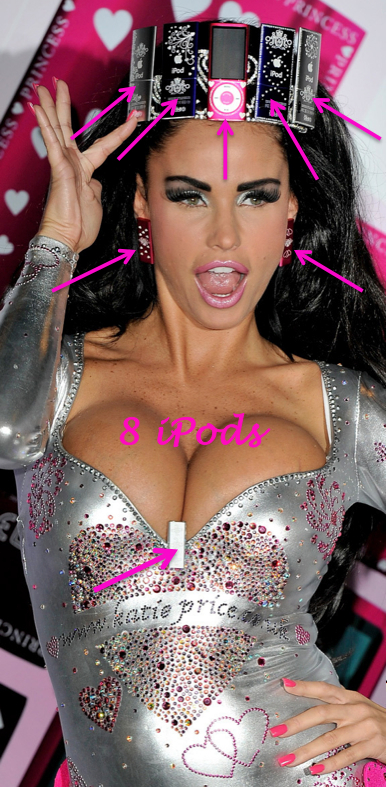 Katie Price ipod, Katie Price plastic surgery, Katie Price breast implants, MAS, Manhattan Aesthetic Surgery